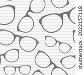 glasses seamless pattern on...   Shutterstock .eps vector #2022157118