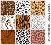 a set of seamless wild animal... | Shutterstock .eps vector #2022165068