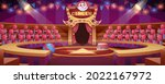 cartoon circus arena. round...   Shutterstock .eps vector #2022167972