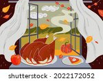happy thanksgiving day holiday... | Shutterstock .eps vector #2022172052