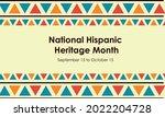 hispanic national heritage...   Shutterstock .eps vector #2022204728