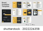 brand guidelines template brand ... | Shutterstock .eps vector #2022226358