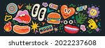 abstract shapes  funny comic... | Shutterstock .eps vector #2022237608