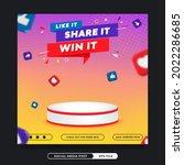 prize invitation contest social ...   Shutterstock .eps vector #2022286685