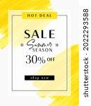 summer sale 30  off sign over... | Shutterstock .eps vector #2022293588