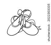 pointe shoes clipart  ballet...   Shutterstock .eps vector #2022303335