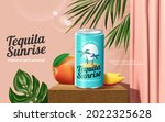 3d tequila sunrise cocktail ad... | Shutterstock .eps vector #2022325628