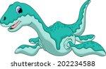 cute dinosaur criptoclidus... | Shutterstock . vector #202234588
