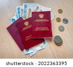 russian pension certificates... | Shutterstock . vector #2022363395