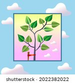 a young tree  a seedling... | Shutterstock .eps vector #2022382022