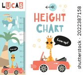 kids height chart with cute...   Shutterstock .eps vector #2022387158