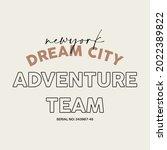 new york dream city...   Shutterstock .eps vector #2022389822