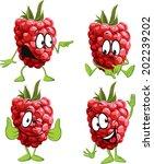 raspberry cartoon | Shutterstock .eps vector #202239202