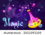 magic cartoon poster with... | Shutterstock .eps vector #2022392105