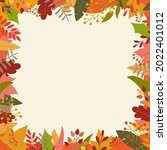 autumn or fall background with... | Shutterstock .eps vector #2022401012