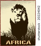 Africa Image With Lion...