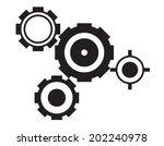 black cogs on white background | Shutterstock .eps vector #202240978