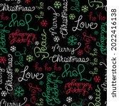 hand written christmas... | Shutterstock .eps vector #2022416138