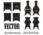 vector set of vintage  old ... | Shutterstock .eps vector #202245526