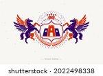heraldic coat of arms... | Shutterstock .eps vector #2022498338
