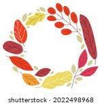 yellow and red autumn leaves... | Shutterstock .eps vector #2022498968