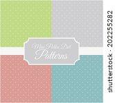 mini polka dot patterns   Shutterstock .eps vector #202255282