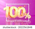 100 off. discount creative...   Shutterstock .eps vector #2022561848