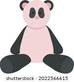 plush panda animal semi flat...   Shutterstock .eps vector #2022566615
