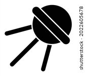 vector sputnik glyph icon... | Shutterstock .eps vector #2022605678