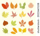autumn leaves collection....   Shutterstock .eps vector #2022665108