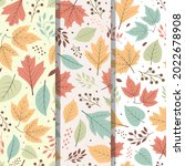 autumn leaves pattern. autumn...   Shutterstock .eps vector #2022678908