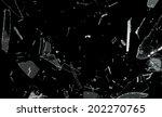 shattered and splitted glass... | Shutterstock . vector #202270765