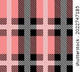 pink and black scotland textile ... | Shutterstock .eps vector #2022747185