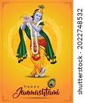 dahi handi festival of happy... | Shutterstock .eps vector #2022748532