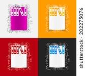 drawing business formulas ... | Shutterstock . vector #202275076