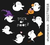halloween spirit ghost flies....   Shutterstock .eps vector #2022770018