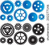 set of gears and cogs | Shutterstock .eps vector #202277146