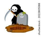 death in cemetery. scary... | Shutterstock .eps vector #2022805088