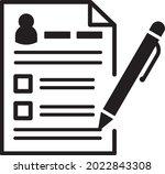 registration form icon vector....   Shutterstock .eps vector #2022843308