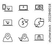business online icon set.... | Shutterstock .eps vector #2022848018