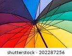 umbrella close up. colorful... | Shutterstock . vector #202287256