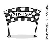 finish line   cartoon vector... | Shutterstock .eps vector #202290352