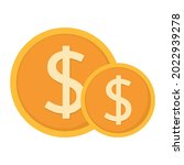 dollar coins icon clipart in...