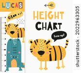 kids height measure with cute...   Shutterstock .eps vector #2022963305