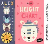 kids height chart with cute...   Shutterstock .eps vector #2022967532