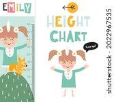 kids height chart with cute...   Shutterstock .eps vector #2022967535