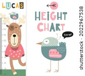 kids height measure with cute...   Shutterstock .eps vector #2022967538