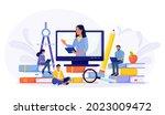 e learning  online education at ...   Shutterstock .eps vector #2023009472