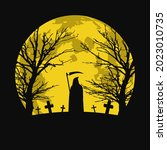 halloween background with...   Shutterstock .eps vector #2023010735