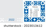 fashionable desktop calendar...   Shutterstock .eps vector #2023013612